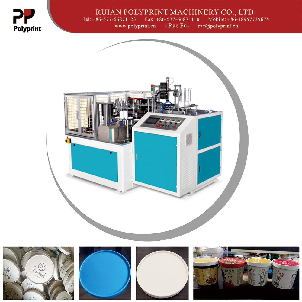 Automatic High Quality Paper Lid Forming Machine