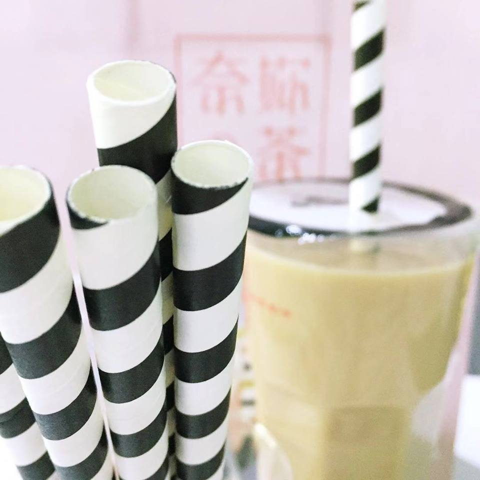 Disposable Coffee Tea Diagonal Cut and Flexible Paper Straws