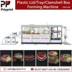 Pet/PVC/PS/PLA Plastic Lid Fast Food Bowl Clamshell Tray Thermoforming Machine