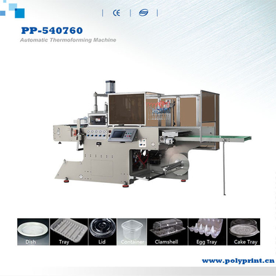BOPS/HIPS/PS/PVC/PE Plastic Tray Lid Container Thermoforming Machine