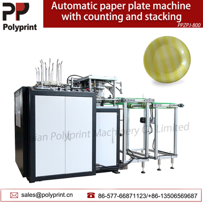 Disposable Eco-Friendly Snacks Fast Food Paper Plate Dish Forming Machine with Counting And Stacking