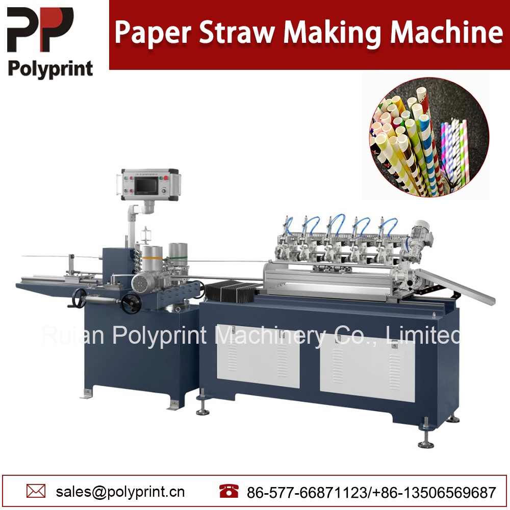 High Output Biodegradable Drinking Water Milk Soda Cup Paper Straw Making Machine