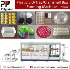 Automatic Plastic Coffee Cup Lid/Cover Clamshell Box Food Tray Thermoforming Forming Making Machine
