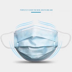 Disposable 3ply Meltblown Nonwoven Face Mask